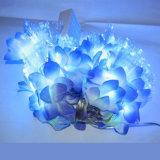 Faser-Blumen-Optikzeichenkette-Licht für Weihnachtsbaum-Beleuchtung
