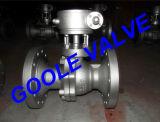 Vávula de bola partida de la carrocería del manual del acero de molde (114)