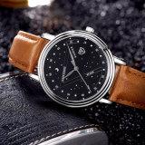 366 heiße Form-Mann-Uhr-blaue Luxuxart-Geschäfts-Armbanduhr für Männer