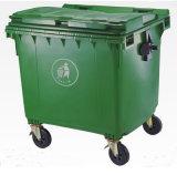 660 Liter-Straßen-bewegliches Abfall-Sortierfach mit 4 Rädern
