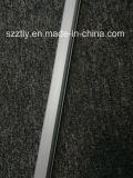 6063t5 Matt anodisierendes silbernes Aluminium verdrängte Profile für LED-Streifen oder LED-Lichter