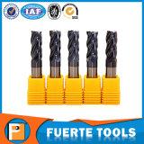 4 flautas de HRC 50 esquadram a ferramenta de carboneto do moinho de extremidade
