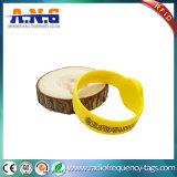 Bracelet d'usager de silicones de Miifare d'IDENTIFICATION RF d'ISO14443 13.56MHz