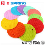 Colorido resistente ao calor Round Shape Pad Silicone Thick Tablemat