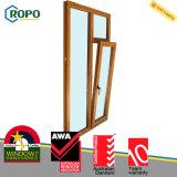 Portello australiano della finestra di girata di inclinazione di vetratura doppia UPVC del membro di Awa