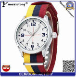 Reloj ocasional de los relojes de las mujeres de los hombres de la venta Yxl-494 de la OTAN de la correa del reloj de la venta al por mayor de la alta calidad del deporte militar encantador de nylon caliente del ejército