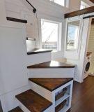 2017 com o reboque de casa móvel do sotão, o sótão pré-fabricou as casas de madeira, casas de madeira do russo para a venda (TH-077)