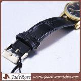 Lederne Band-Quart-Sport-Uhren, Dame-Form-Armbanduhr