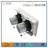 Bridgelux 옥수수 속 5W× 보장 3 년을%s 가진 2개의 두 배 헤드 LED 석쇠 램프