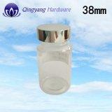 38mm Glanzende Zilveren Plastic UVKappen voor Fles 150ml