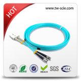 cabo de correção de programa interno do conetor do Sc-Sc da fibra óptica da manutenção programada de 2.0mm ou de 3.0mm