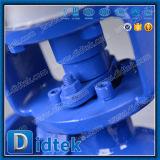 Didtek 석유화학 Wcb 압축 공기를 넣은 탄소 강철 3 방법 공 벨브