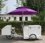 Тележка мороженного Popsicle переднего трицикла нагрузки электрическая