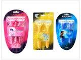 Gummigriff, der dreifache Wegwerfschaufel-medizinisches Rasiermesser für Frauen rasiert