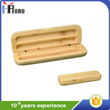 Boîte à stylo en bambou carbonisé sans stylo