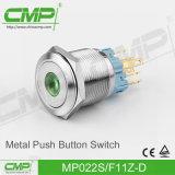 CMP 22mm de Kortstondige Schakelaar van de Drukknop met Ring Verlichte Lamp