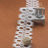 Neues Entwurfs-Gewebe-weiße Wimper-Nylonspitze