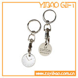 Подгонянный металл Keychain монетки вагонетки с плакировкой никеля (YB-MK-13)