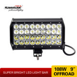 "barra clara 4X4 ATV do diodo emissor de luz da fileira de 10 "" 108W Trible Offroad"