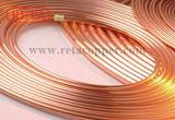 Tubo de cobre limpio del tubo de gas