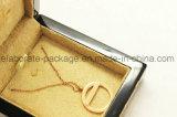 Nueva caja de embalaje de madera modificada para requisitos particulares del rectángulo de joyería del estilo madera dura