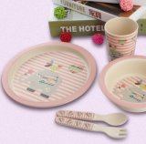 BPA Free Bamboo Fiber Kitchenware Ensemble de vaisselle pour enfants (YK-KS012)