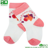 도매 귀여운 연분홍색 뜨개질을 한 면 주문 아기 양말
