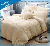 4PCSサテンのハンドメイドの羽毛布団カバー寝具
