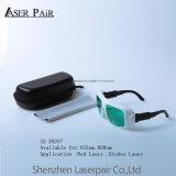 Demande de transmittance rouge de laser des diodes Laser&808 pour des glaces de sécurité de lasers de qualité de 30%