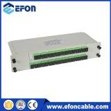 FTTH Lgx 리본 Casseter PLC 쪼개는 도구 1*32 플러그 접속식 카드 광학적인 쪼개는 도구