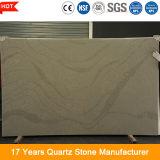 Grande pietra costruita artificiale personalizzata del quarzo del modulo 20mm della lastra per il controsoffitto della cucina