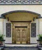 Landhaus-neue Entwurfs-Handarbeit-Sicherheits-Haustür-Kupfer-Tür