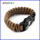 7 bracelet de cordon de survie de Paracord du faisceau 550