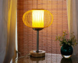 ホーム寝室のためのタケハンドメイドDest表の読書ライトランプ
