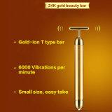 Serrage de peau de rouleau-masseur de face, caractéristique et tout autre type barre de rajeunissement de peau de beauté d'or de 24k