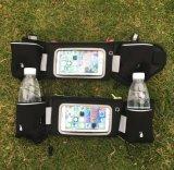 Bolso corriente del sostenedor del teléfono de la cintura del deporte al aire libre con las botellas de agua