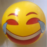 Déflaté 40cm Gonflé 30cm Diamètre gonflable Smile Face Beach Ball