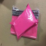 PE personalizada en color rosa bolsa de plástico de embalaje