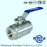 Válvula manual do aço de carbono da linha de alta pressão com punho