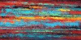 Abstrakte Ölgemälde-Wiedergabe mit Acryl