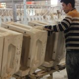 Bacia cerâmica do gabinete do dissipador do gabinete (NALA-100)