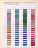 Scheda metallica di colore del filetto di marca di Sakura con 592 colori in azione