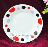 Il piatto di ceramica servisce i piatti di ceramica bianchi di ceramica del piatto di pranzo della porcellana del commercio all'ingrosso di riserva del piatto