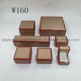 Rectángulo de joyería de madera hecho a mano de lujo vendedor caliente de la caja de embalaje