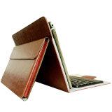 PU cuero iPad Stand bolsa de teléfono móvil titular de la caja