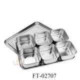 Rectángulo del condimento del acero inoxidable (FT-02707)
