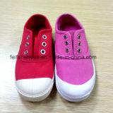 Самая последняя дешевая школа обувает ботинки впрыски ботинок холстины (FF921-2)