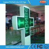 P10 sola muestra cruzada al aire libre del color LED para la farmacia