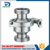 Válvulas de verificación higiénicas inoxidables del acero Ss316L