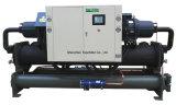 refrigerador de água controlado do compressor do parafuso do PLC 180HP